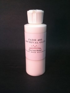 Archival Glue Jade 403, book repair glue
