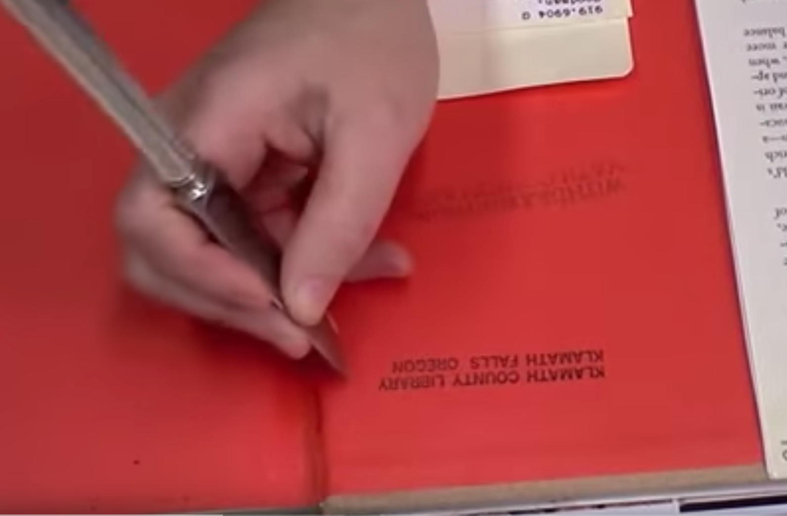 Remove an Ink Library Stamp with Scraping