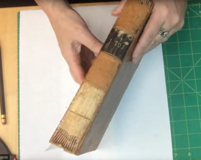 4-202: Quick Fix Preservation Re-back for Deteriorated Leather Book