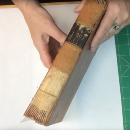 4-202: Quick Fix Preservation Re-back for Deteriorated Leather Book ~ $29.99