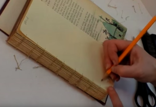 2-119b: Notate the Sewing pattern when Deconstructing a Book ~ Free