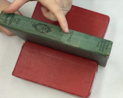 2-106a: Color Touch-up on Cloth Book Spine