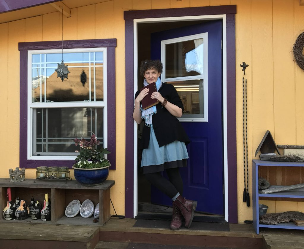 Sophia outside her studio in Ashland, Oregon