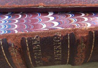 4-107: Reattach a Leather Book Board: Quick Fix ~ $4.99