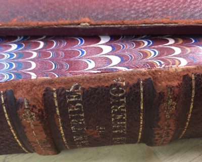 4-107: Reattach a Leather Book Board: Quick Fix