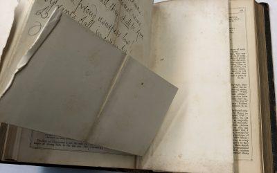 3-105: Repair a Map or Foldout in a Book